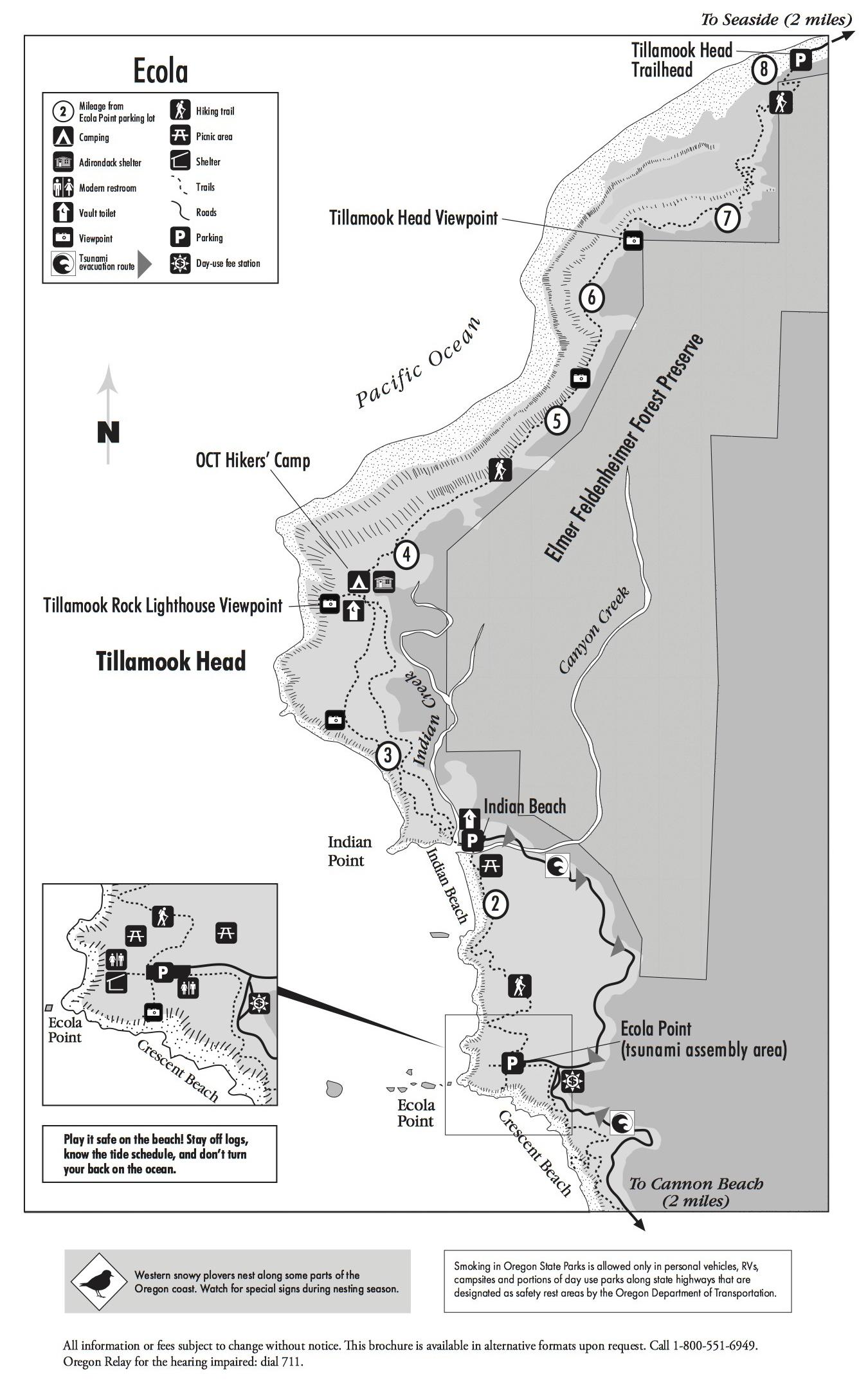 Ecola State Park Map