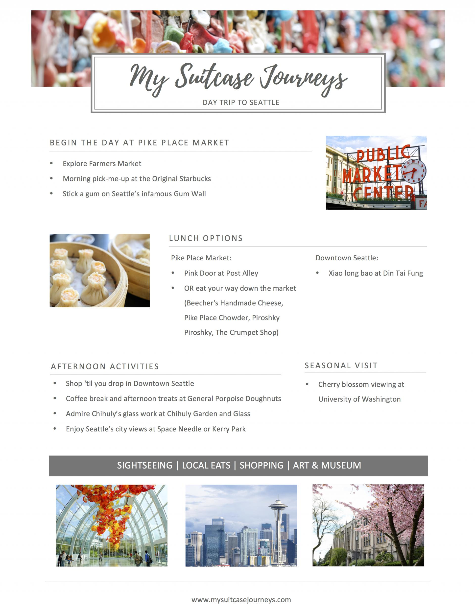 Seattle Day Trip Itinerary