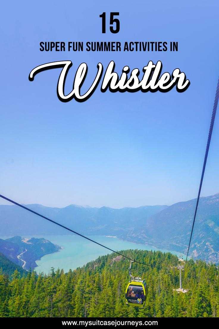 Looking to escape the city life? Want to embark on a short weekend trip? Here are 12 Whistler summer activities to check out for your next adventure!