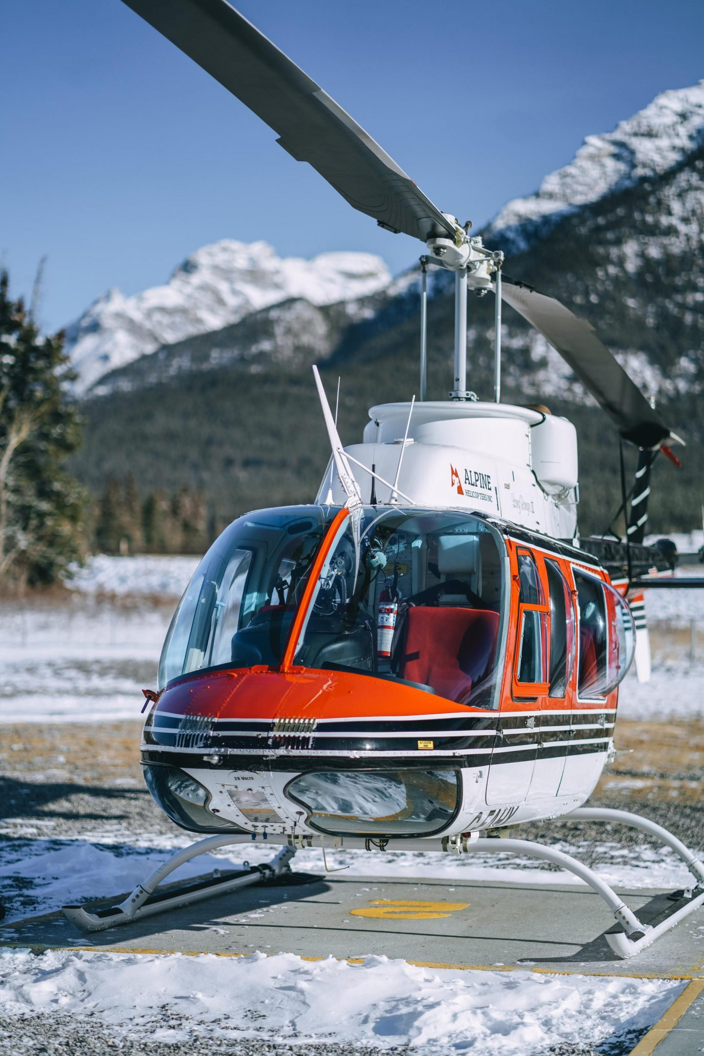 Aerial tour with Alpine Helicopters.