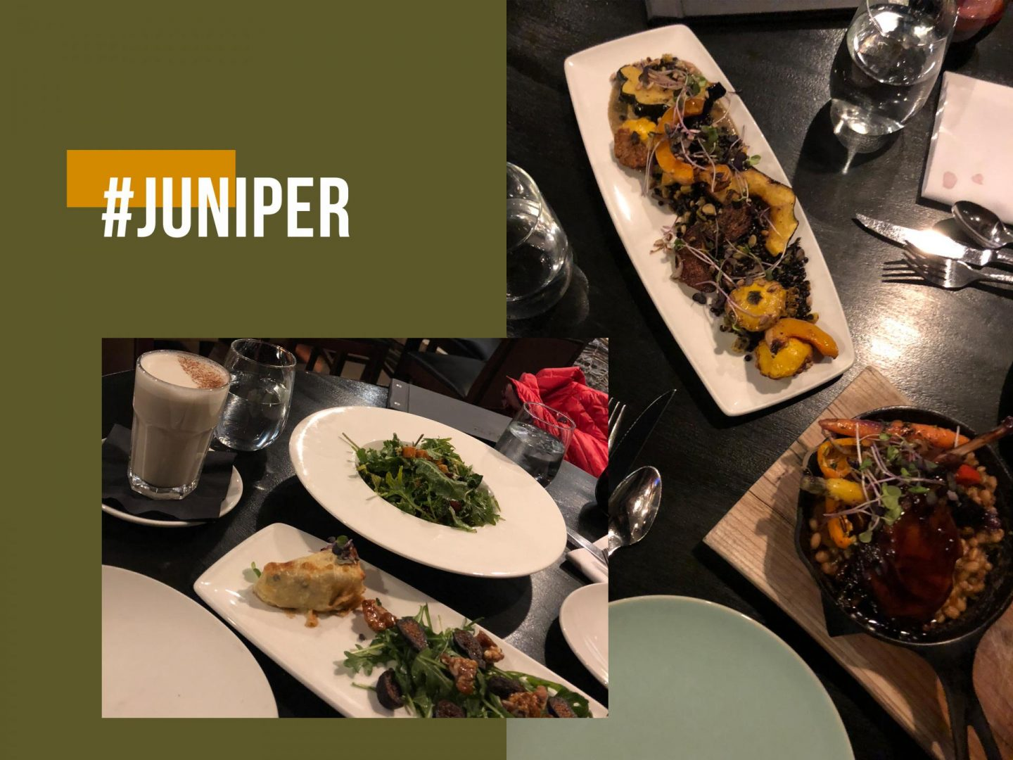 Three course meal at Juniper Bistro.