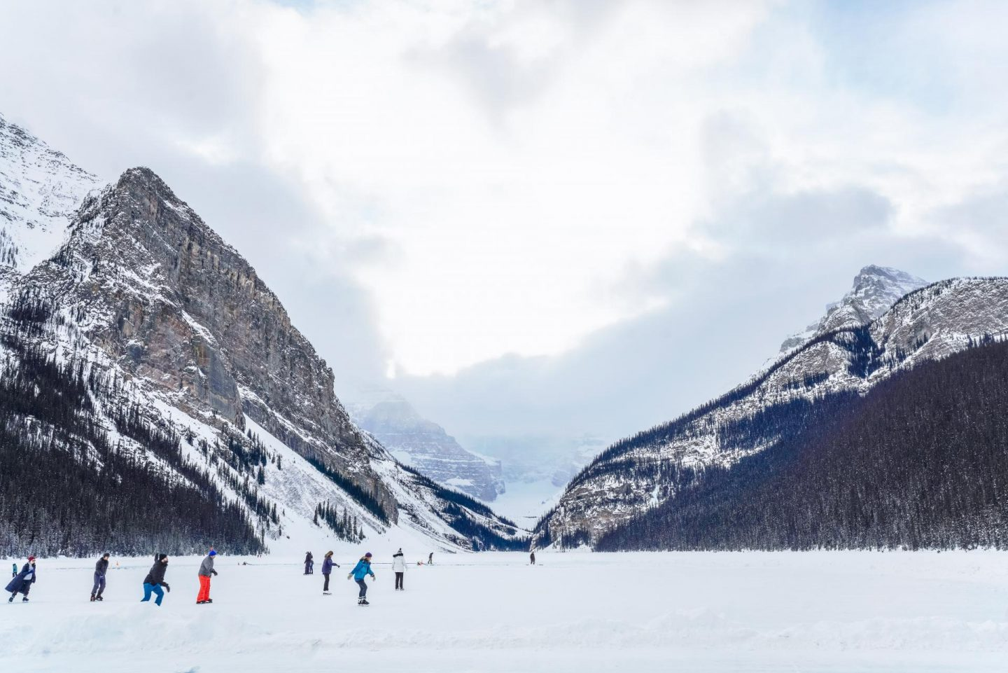 Ice skating at Lake Louise.