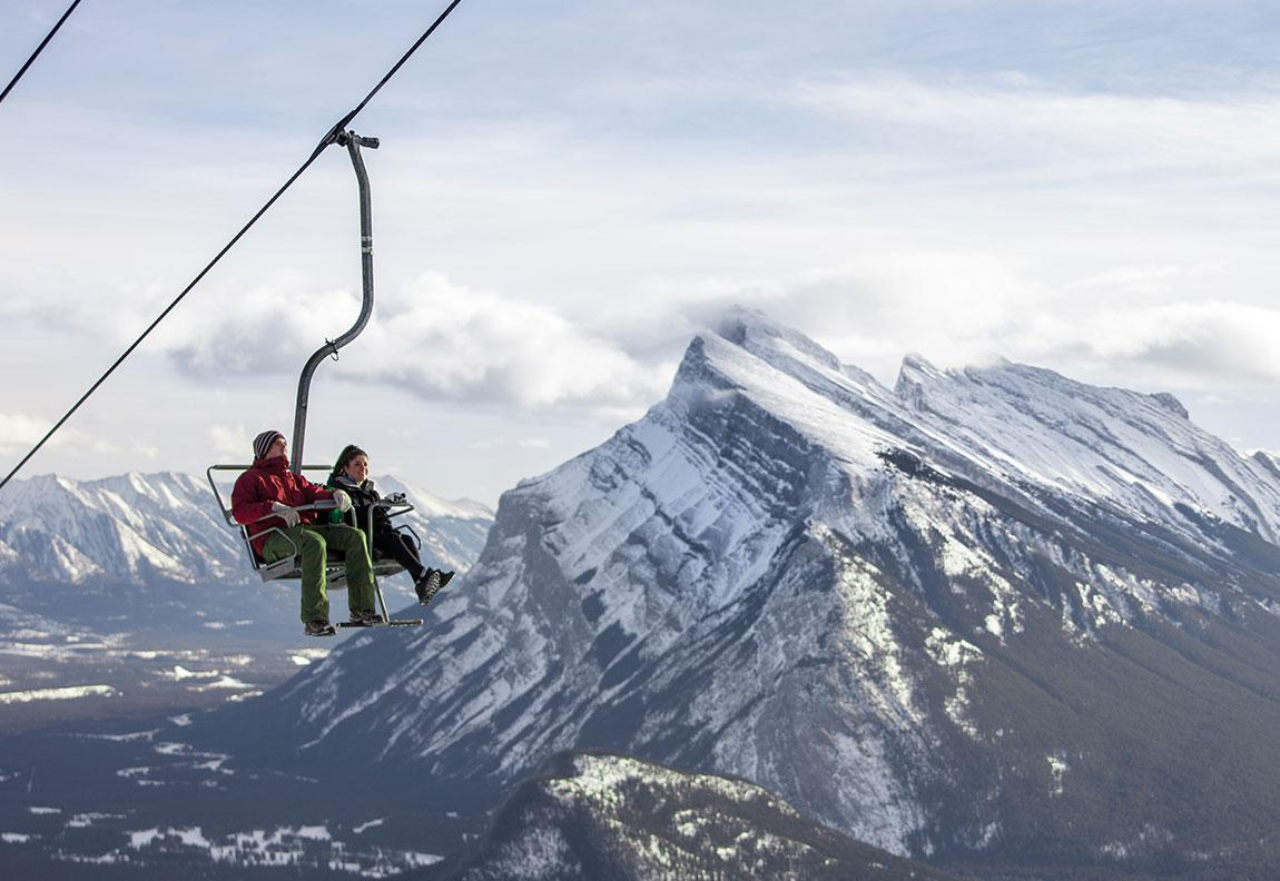 Scenic chairlift ride at Mount Norquay.