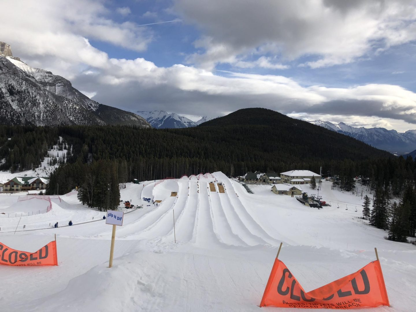 Downhill tubing thrill at Mount Norquay.