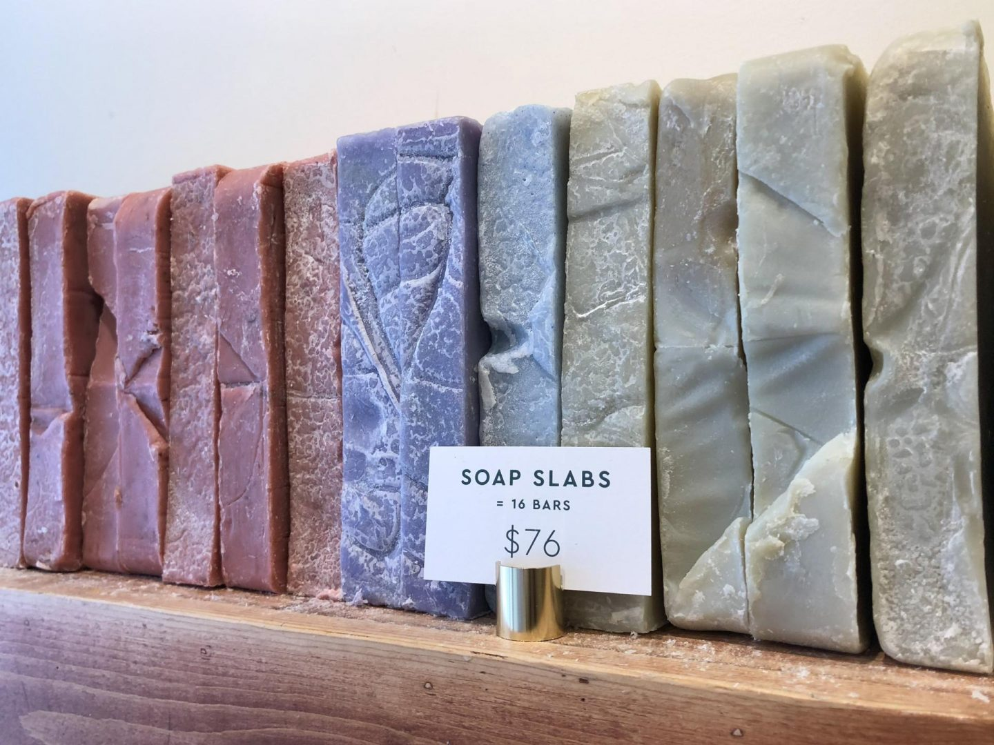 Handmade soap at Rocky Mountain Soap Company.
