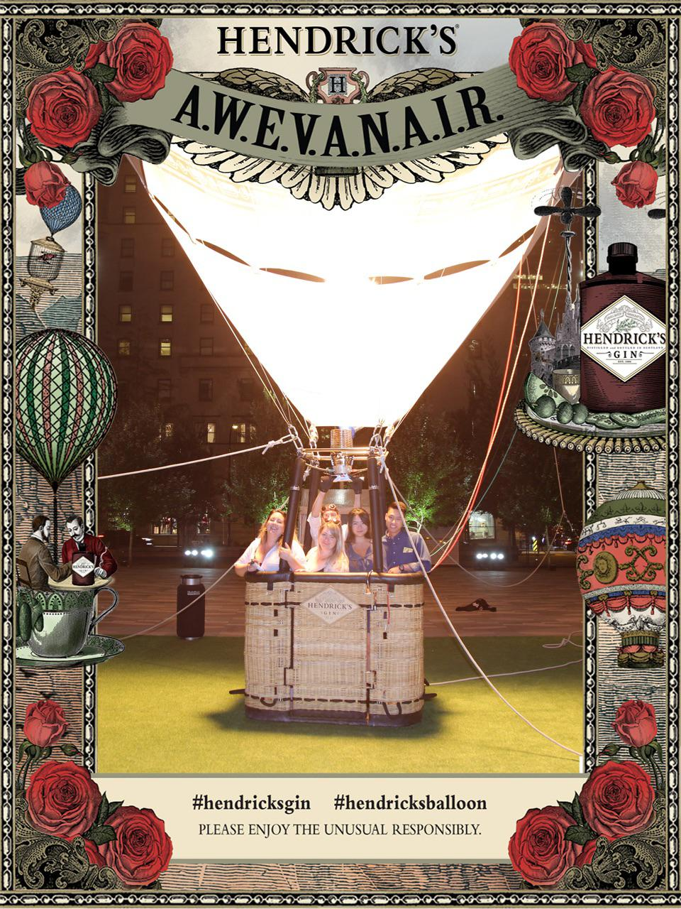 Hendrick's Gin debuts 65-foot A.W.E.V.A.N.A.I.R. hot air balloon.