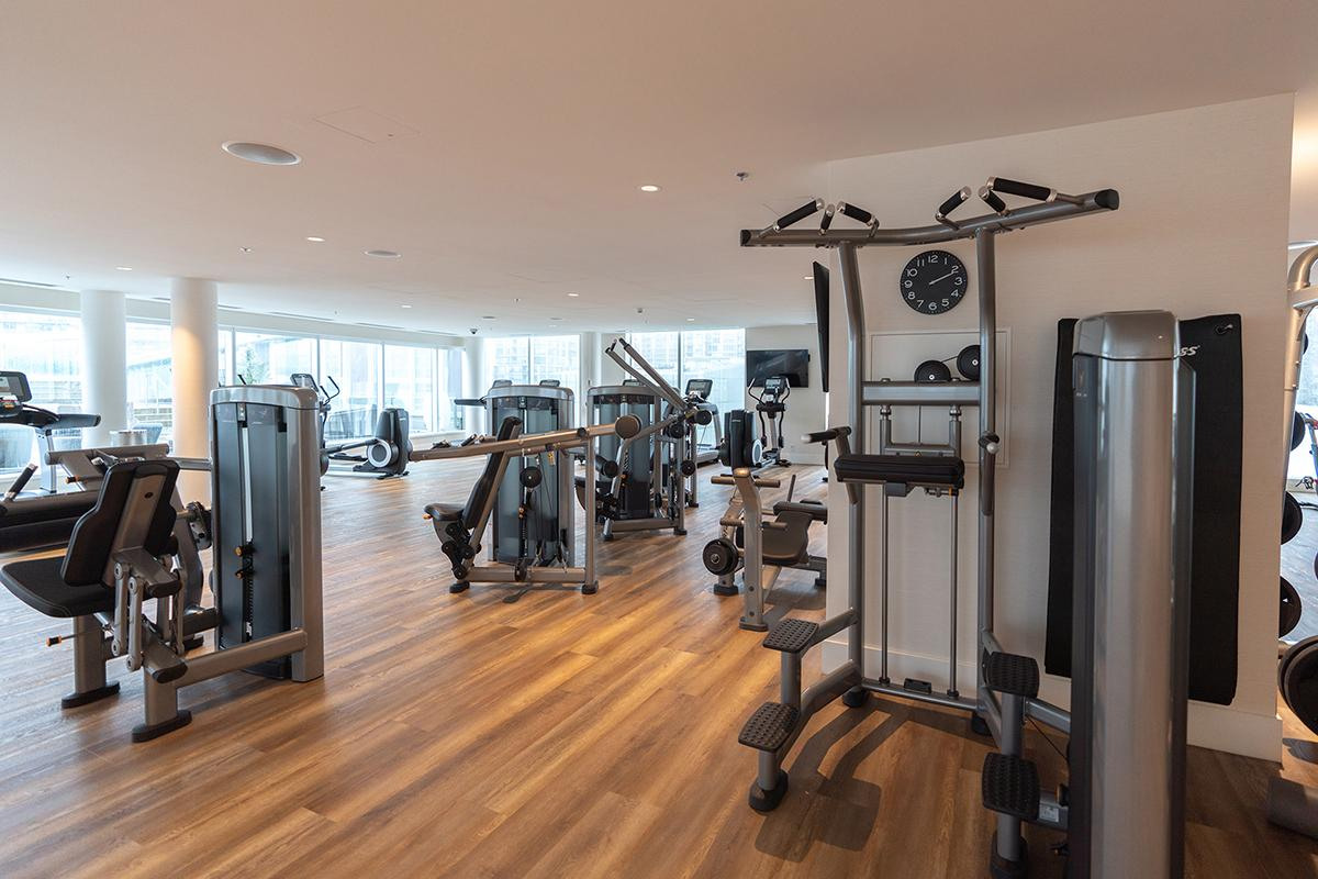 Fitness Center at JW MarriottParq Vancouver.