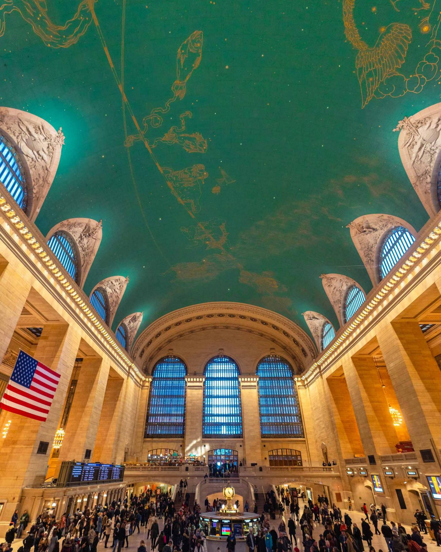 Celestial ceiling at Grand Central Station.