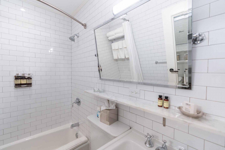 HGU New York King Suite bathroom.