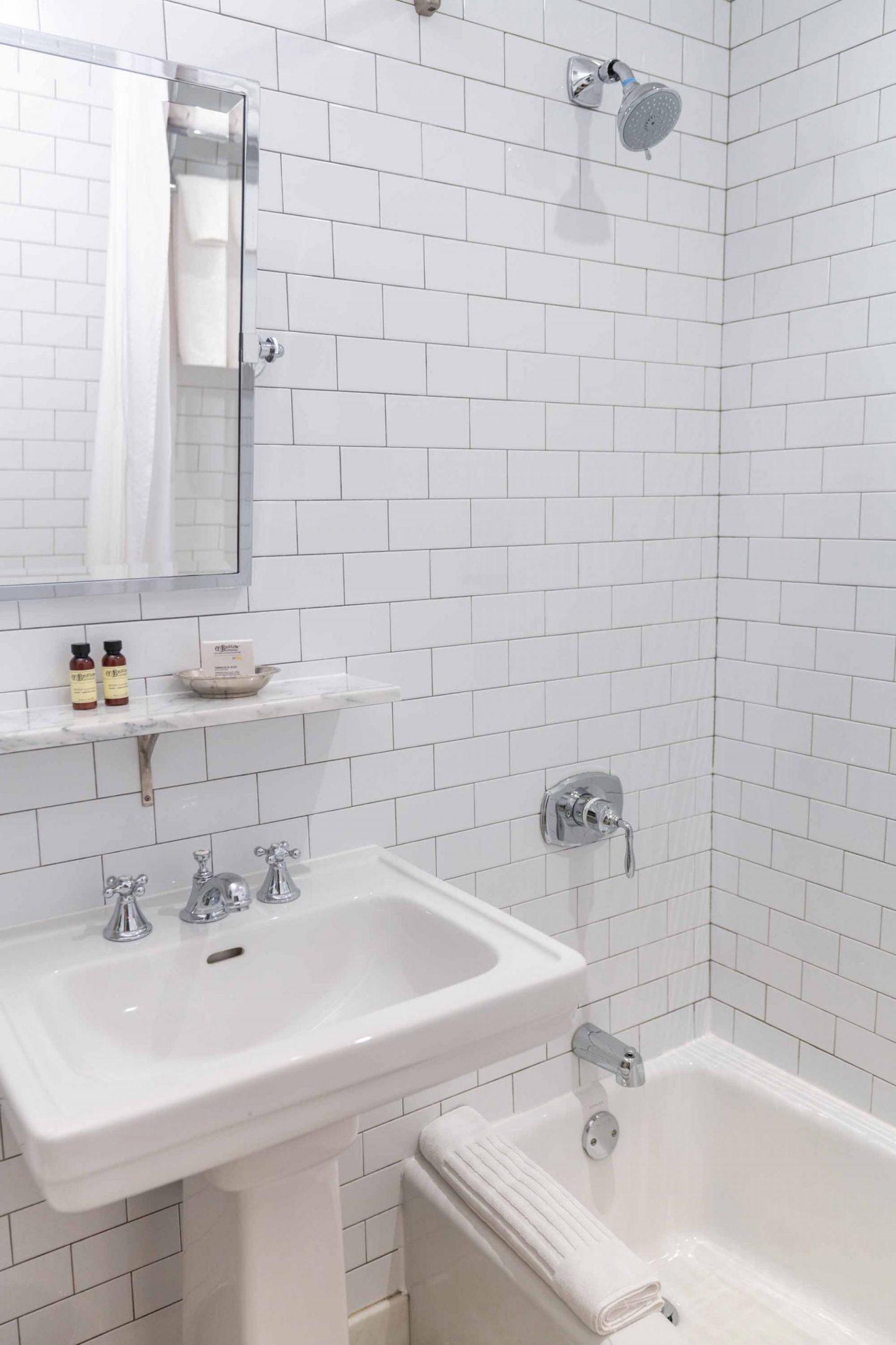 HGU New York King Suite ensuite bathroom.