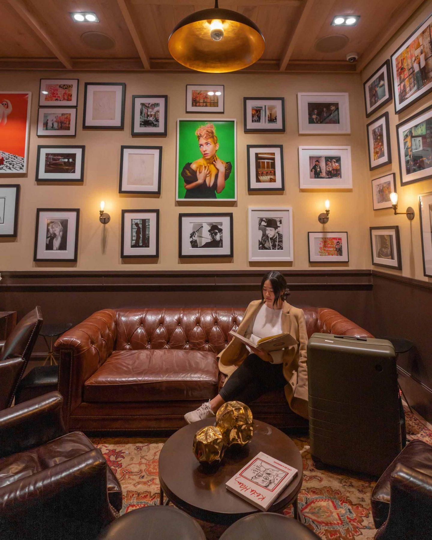 HGU New York lobby lounge.