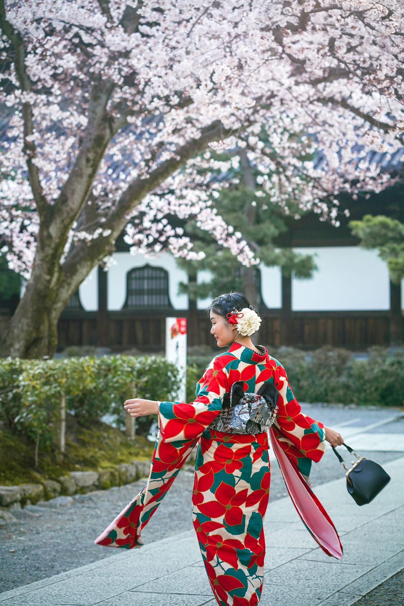 Furisode kimono rental from Kimono Rental Wargo in Kyoto.