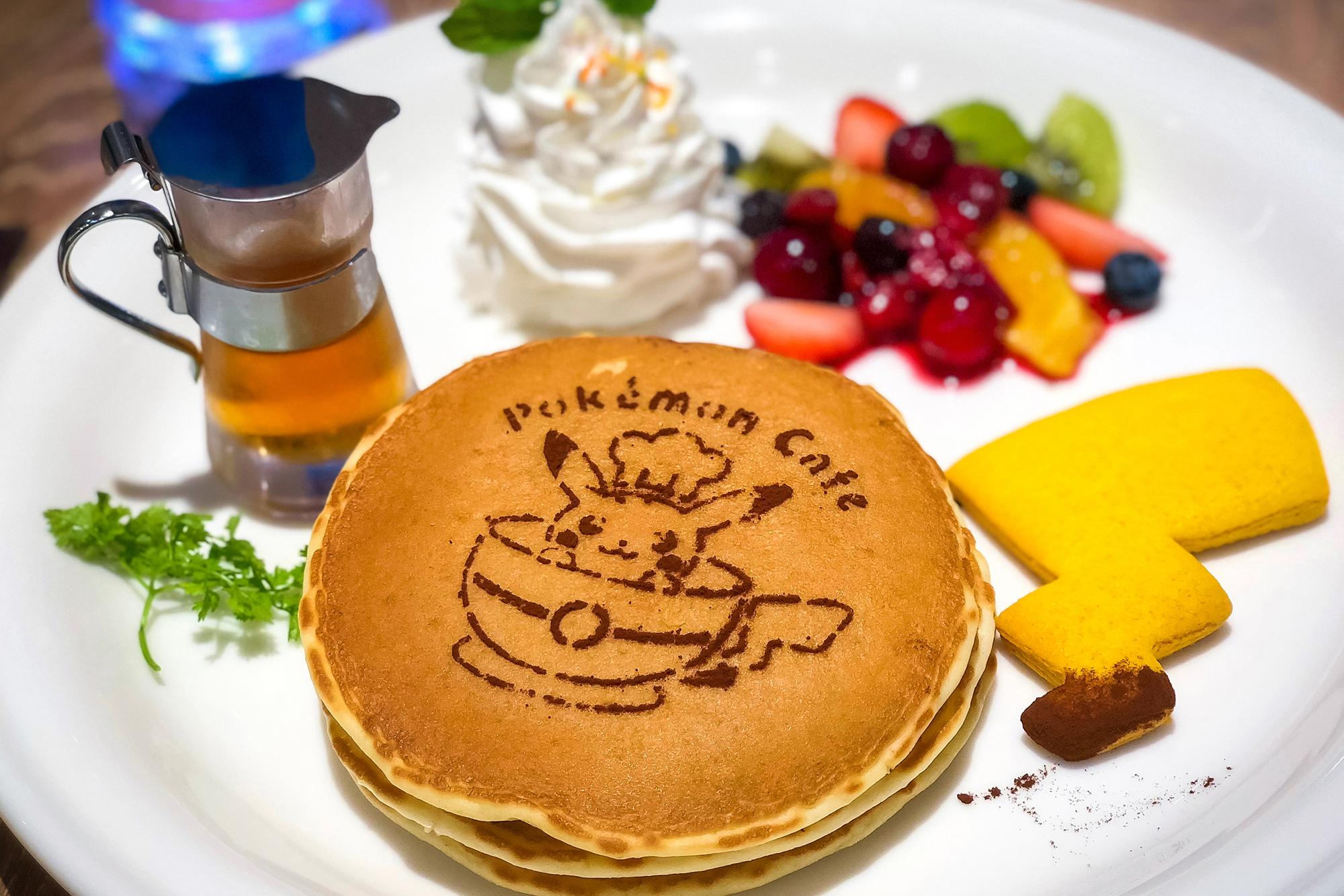 Pikachu pancakes at Pokémon Café.