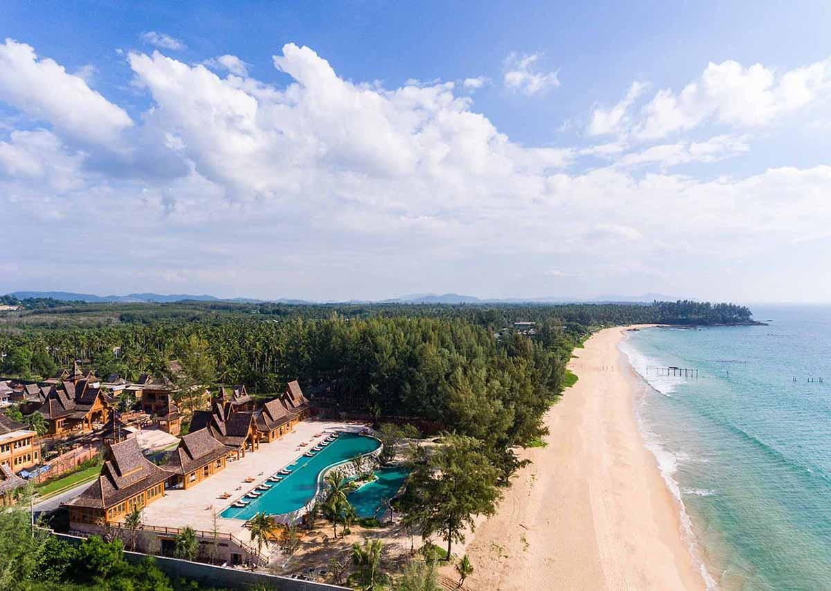 Aerial view of Santhiya Phuket Natai Resort & Spa.