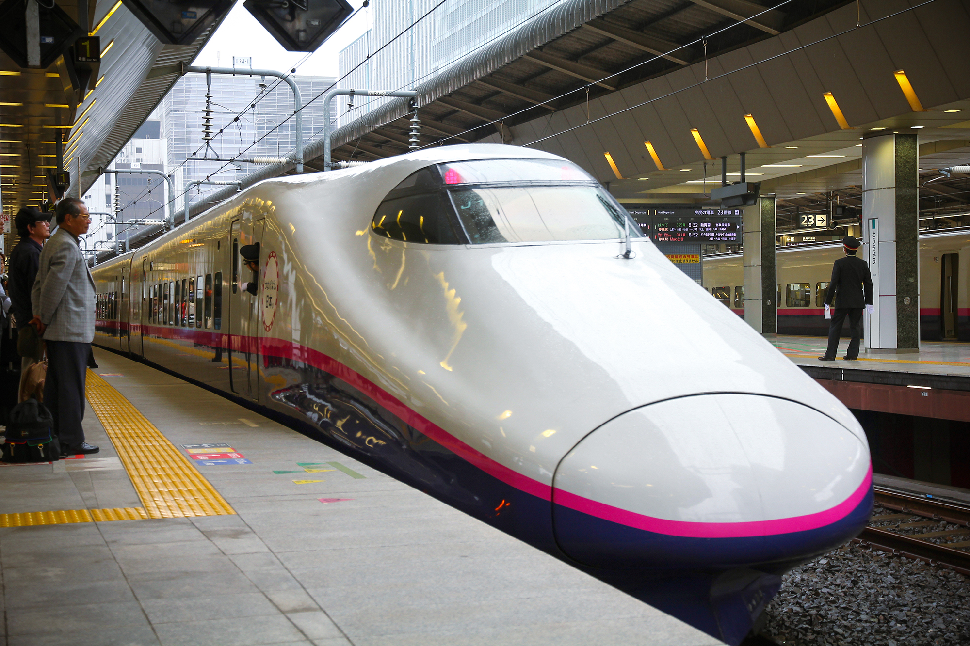 Shinkansen is a fast and easy way to get around the country.