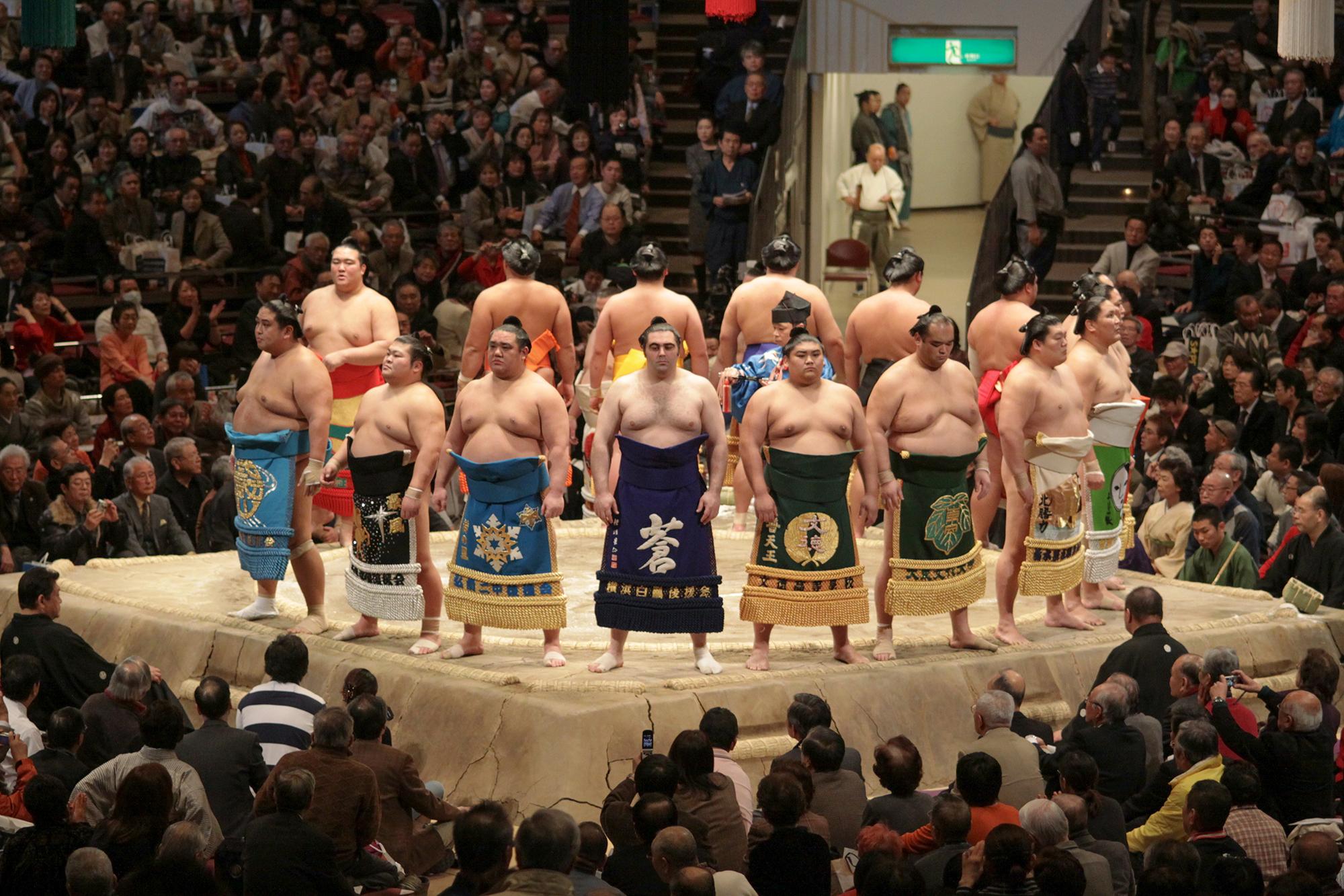2009 Tokyo Grand Sumo Tournament in Japan.