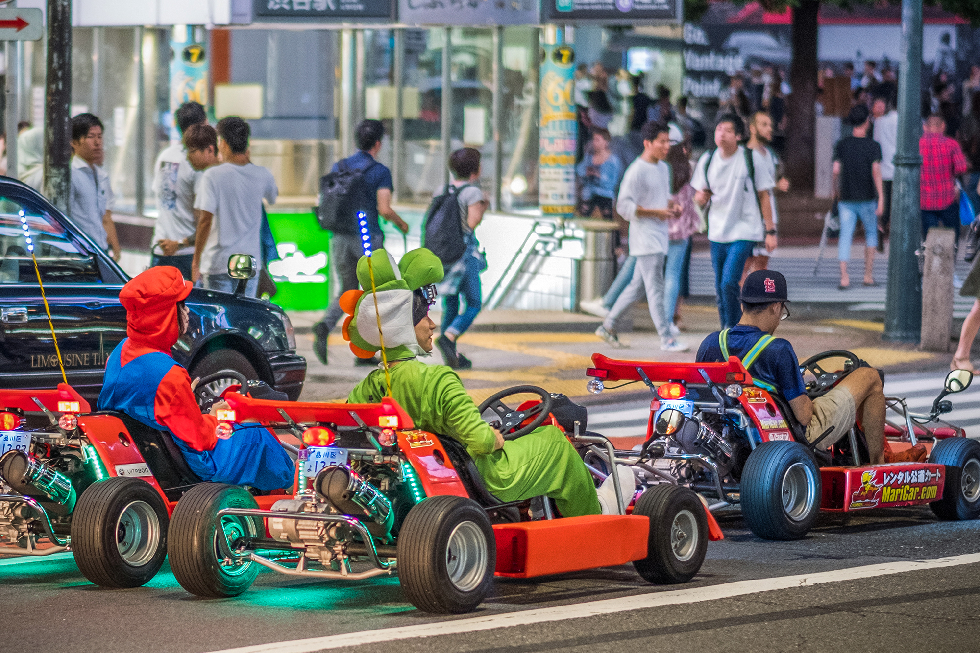Go-karting in Tokyo with Street Kart Tour.