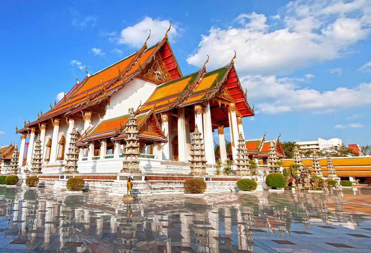 Wat Suthat, a first-class royal temple.