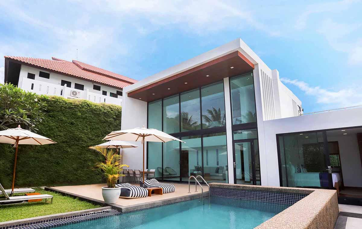 Villa with private pool at akyra Beach Resort Phuket.