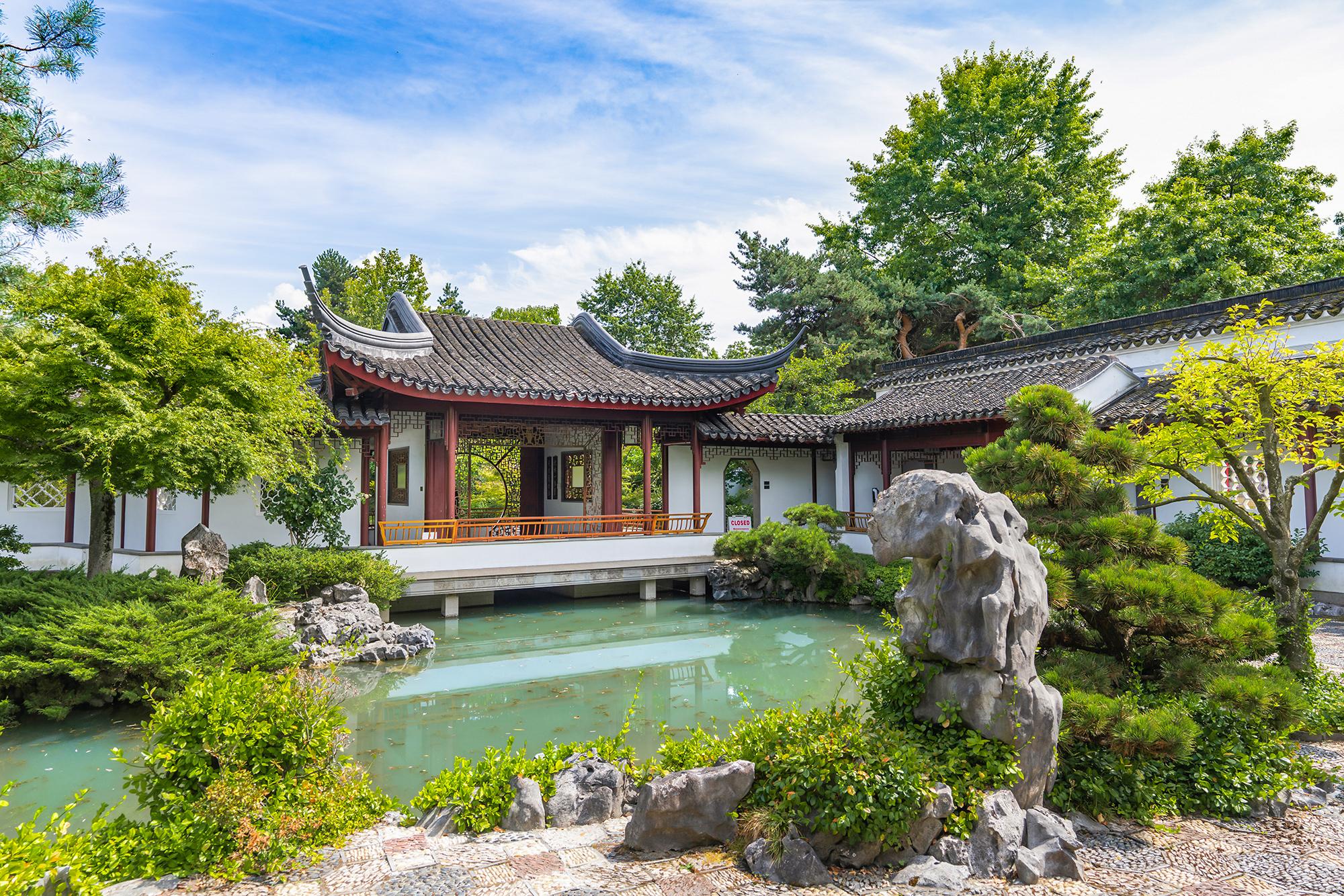 Jade Water Pavilion at Dr. Sun Yat-Sen Classical Chinese Garden.