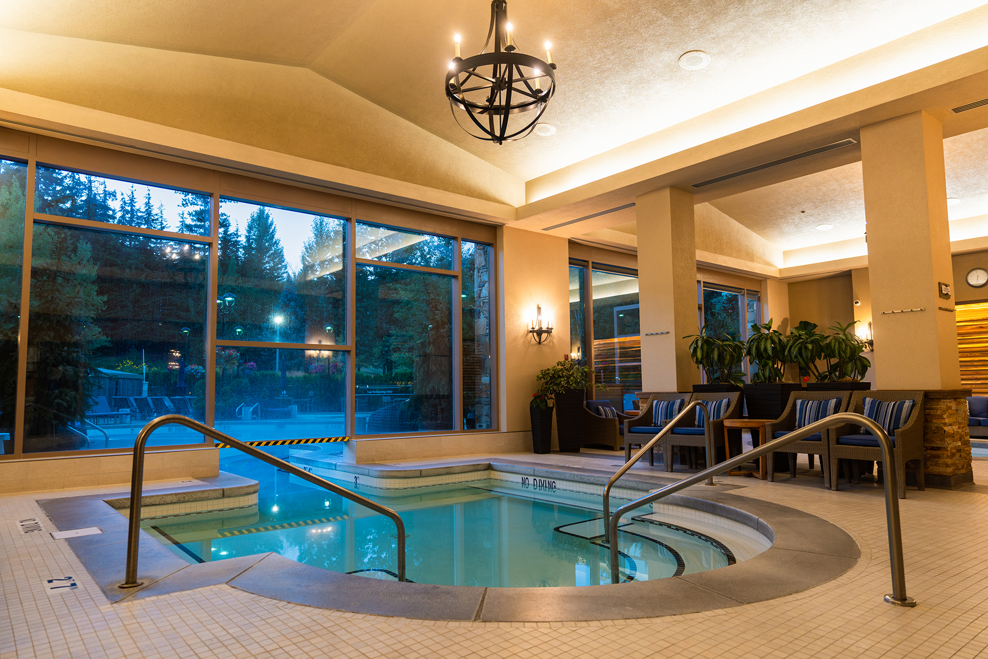 Fairmont Chateau Whistler pool facilities.