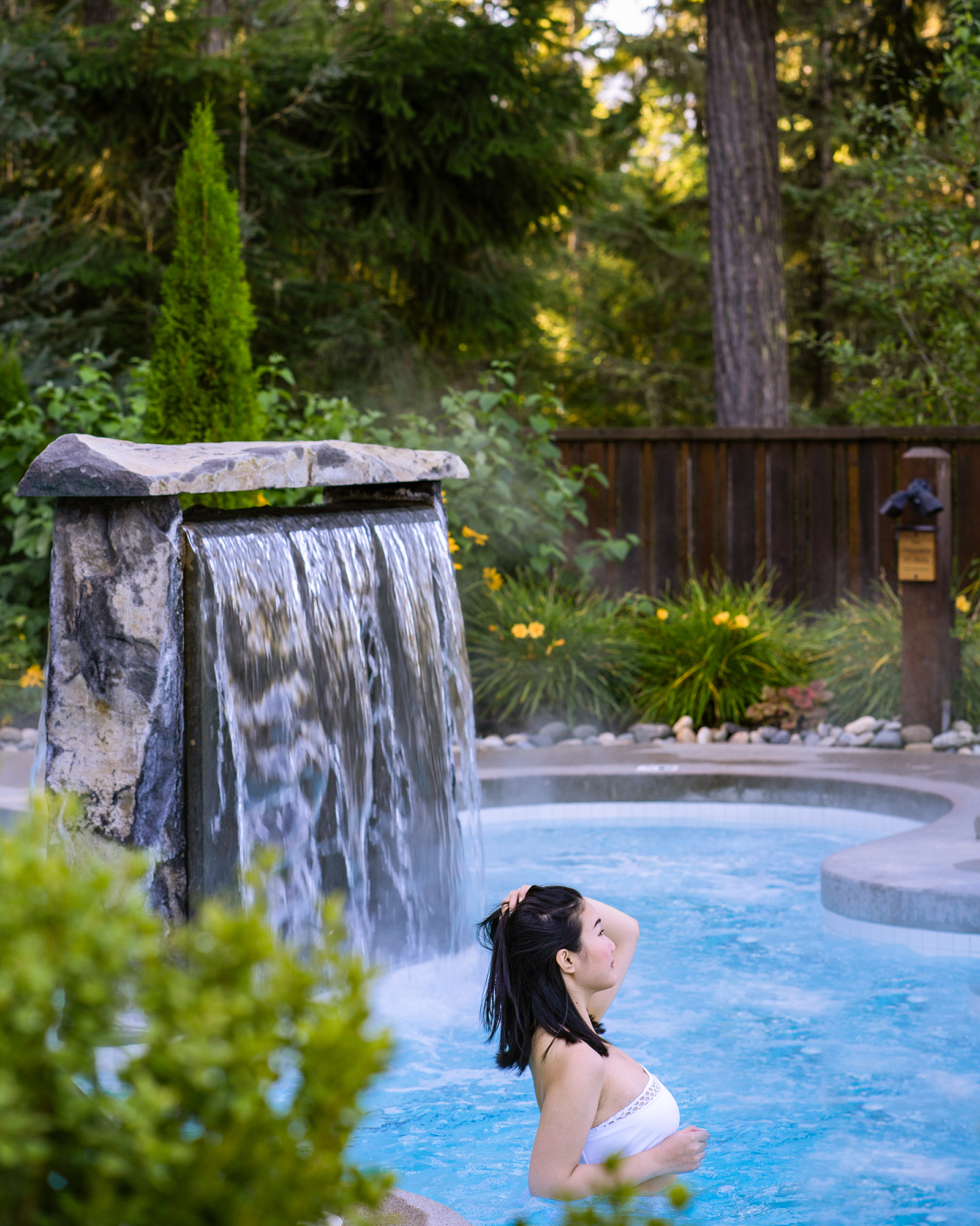 Morning relaxation at Scandinave Spa Whistler.