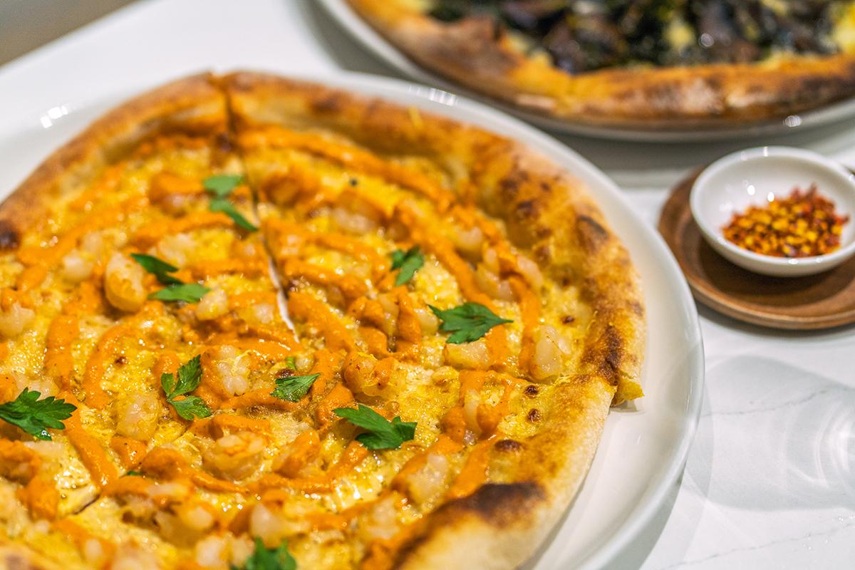 Gamberi pizza at FARO.