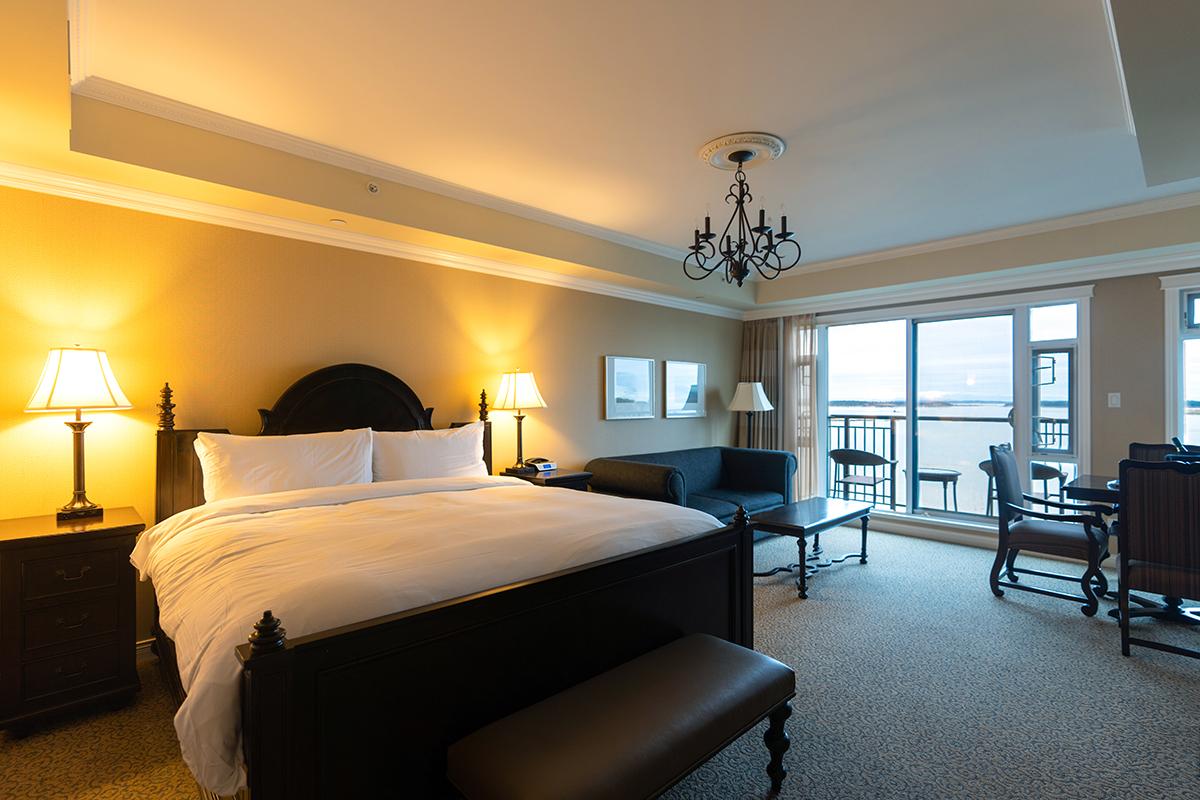 "Oak Bay Beach Hotel's Boutique Suite ""Our Best"" Ocean View (King)."