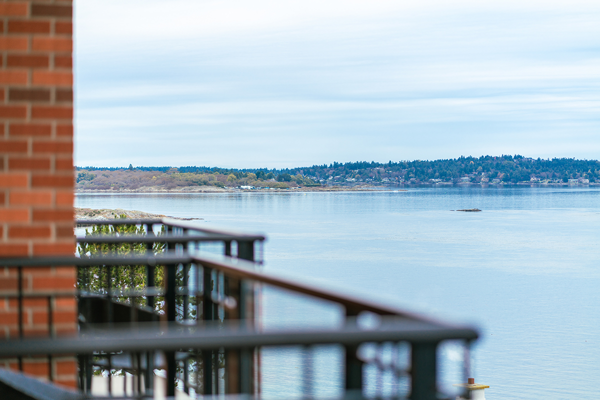 "View from Oak Bay Beach Hotel's Boutique Suite ""Our Best"" Ocean View (King)."